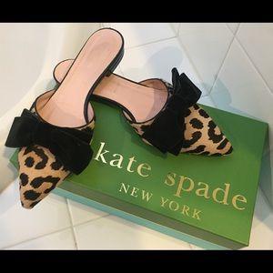 Kate Spade leopard mules